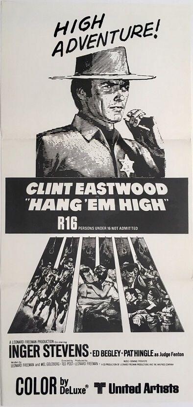 Clint Eastwood cult movie poster print Hang Em High 1968