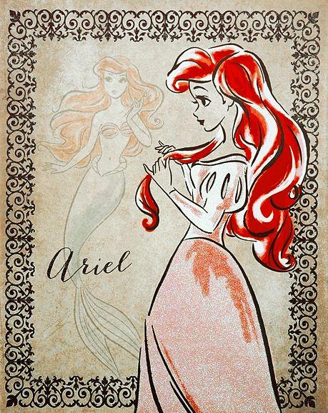 Disney Goldmine — Fashionista Disney Princess Art Prints by...
