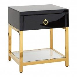 Kensington Side Table Glass Bedside Table Side Table With