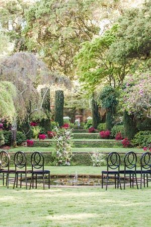 The Most Stunning Outdoor California Wedding Venue Was Filled With Lush Vel Garden Wedding Inspiration Garden Wedding Venue Outdoor Wedding Venues California