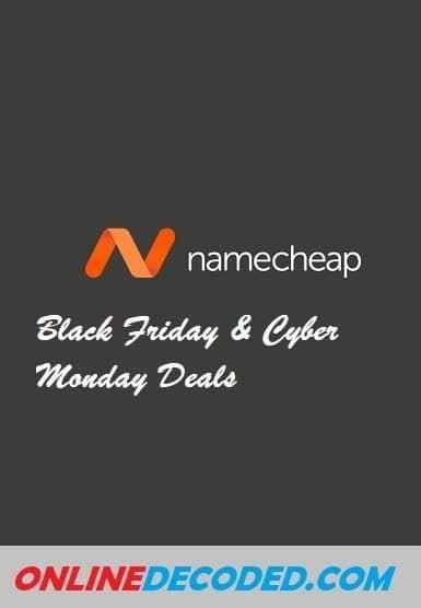 Namecheap Black Friday Discount 2020 Save 98 In 2020 Thanksgiving Offers Cyber Monday Offers Holiday Offer