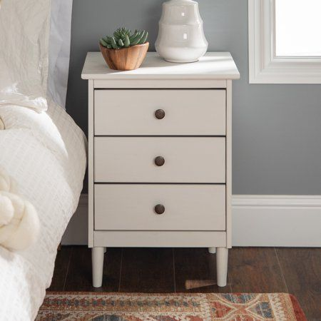 Home White Nightstand Nightstand Decor Wood Nightstand