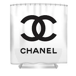 Chanel Black And White 04 Lifestyle And Fashion Shower Curtain
