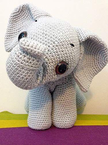 Elefante Amigurumi Em Croche - R$ 59,00 em Mercado Livre   500x375