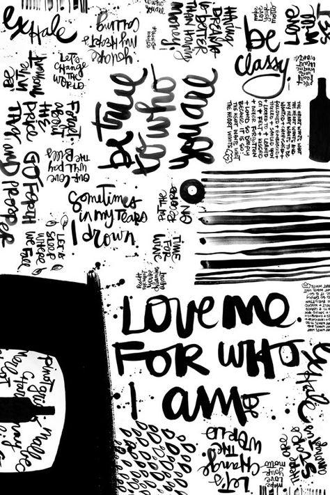 Chorus. (24x36 poster) from TipsyTipsy.  So much inspo for my new obsession -- brush script a'la Kal! brushlettering / qoute / motivation / Handlettering / lettering / typography / brushtype / designinspiration / goodletters  / handmadefont / moderncalligraphy / calligratype / calligraphy