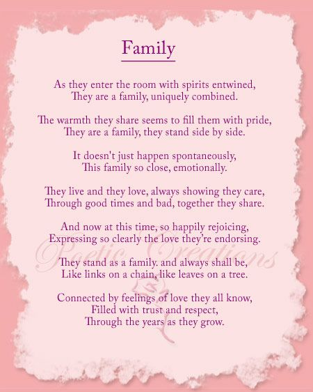 Through the years, I have written poems about love, life and family. I believe that many of you can relate to the emotions expressed in these poems and have included them here for your enjoyment.