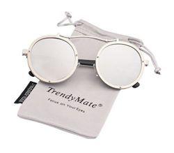 702154600 Steampunk Round Men Metal Driving Circle Sun Glasses Women Vintage Retro  Sunglasses by TrendyMate