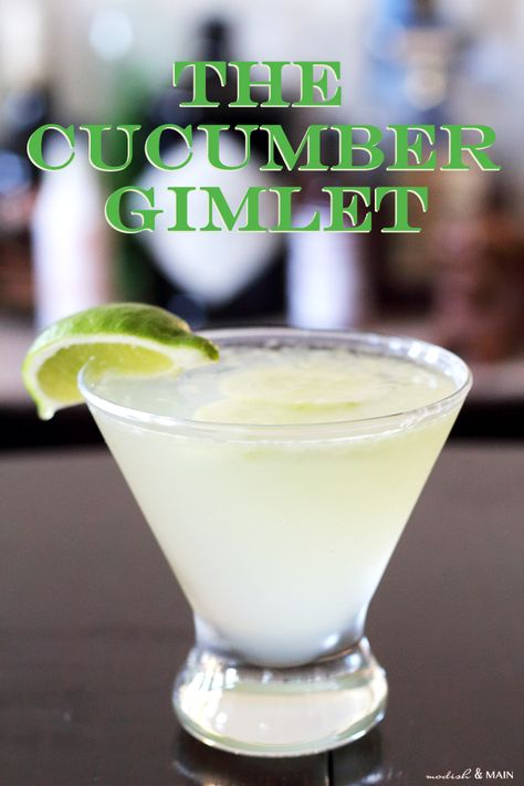 Cucumber Gimlet Recipe - when you want to feel like you've just retreated to a spa and can truly relax … your go-to drink needs to be a cucumber gimlet. Cocktails To Try, Refreshing Cocktails, Summer Drinks, Cocktail Drinks, Fun Drinks, Gimlet Cocktail, Vodka Cocktails, Mixed Drinks, Martini Recipes