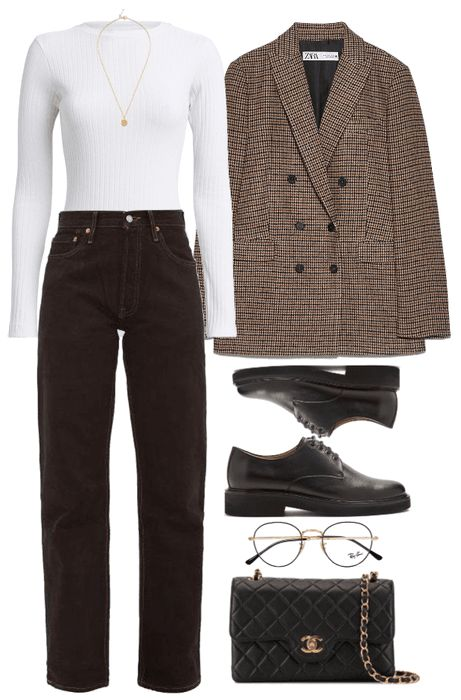 # 247 Outfit - Business Outfits for Work Hipster Fashion Style, Look Fashion, Korean Fashion, Classy Outfits, Stylish Outfits, Vintage Outfits, Polyvore Outfits Casual, Mode Outfits, Fashion Outfits