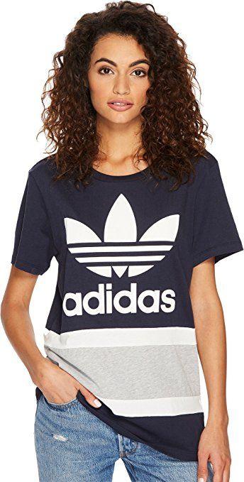 180230c8ec112 adidas Originals Women's Boyfriend Trefoil T-Shirt at Amazon Women's ...