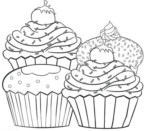 sweet cupcakes coloring pages  cupcake coloring pages candy coloring pages free coloring pages