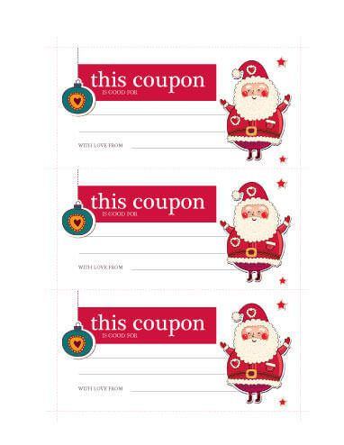 Santa Coupon Template Christmas Coupons Christmas Gift Certificate Template Free Christmas Printables