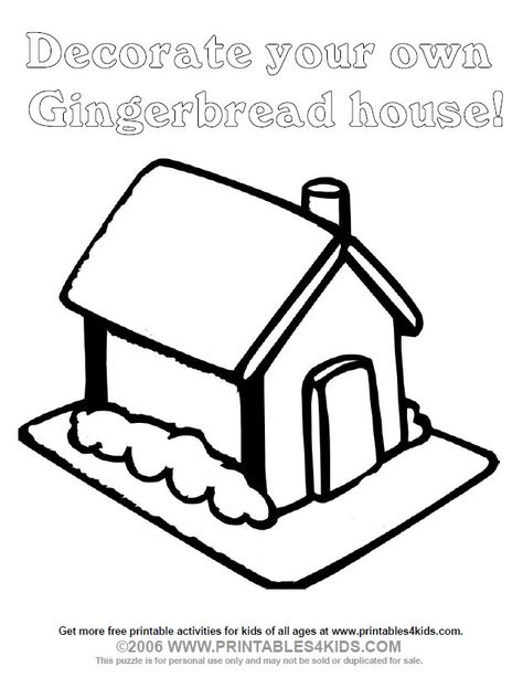 Blank Gingerbread House Coloring Pages Images Pictures Becuo House Colouring Pages Coloring Pages Gingerbread House Template