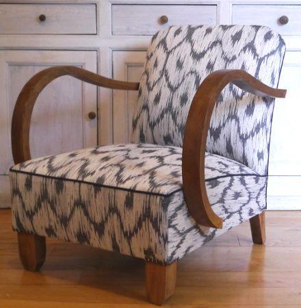 Tissu Noir Et Blanc Pour Fauteuil Art Deco Canape Art Deco Fauteuil Art Deco Mobilier De Salon