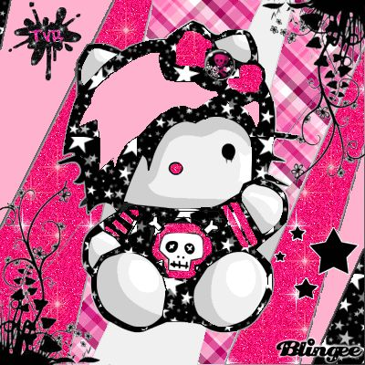 Emo Hello Kitty Wallpaper | Emo Kitty Emo Wallpaper, Hello Kitty Wallpaper, Scene Kids, Emo Scene, Princesa Emo, Arte Emo, Hello Kitty Imagenes, Emo Princess, Hello Kitty Cupcakes