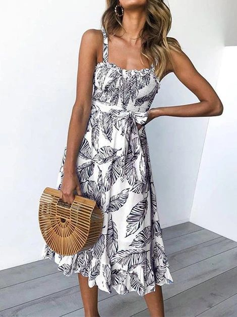 Bohemia Floral Printed Midi Dress – Jartini mini dresses formal mini dresses summer short dresses party fashion dress simple  dresses styles dress beautiful vacation clothes dresses#dresses#summerdresses  #outfitsdresses#fashiondress#simpledresses#casualdresses