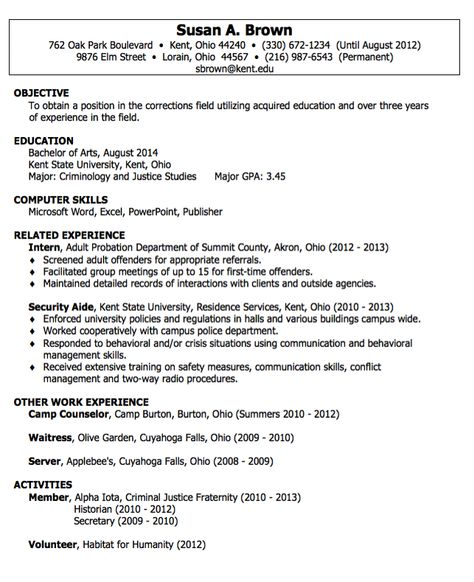 Security Aide Resumes Examples - http\/\/resumesdesign\/security - criminal justice resume examples