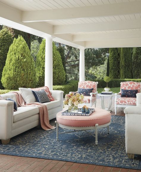 The Sumptuous Upholstered Style And Comfort Of Indoor Seating Is Reinvented To Weather The Outdoor Elemen Indoor Seating Outdoor Living Space Outdoor Furniture