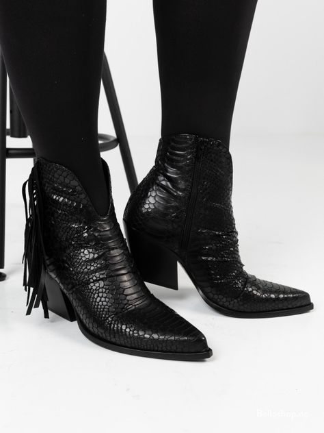 Discount trend Women's Boots Bronx snake print leather