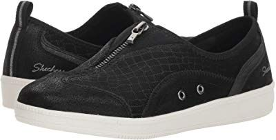 Skechers Suede Bow Slip On Shoes Madison Ave On Shoes Slip On