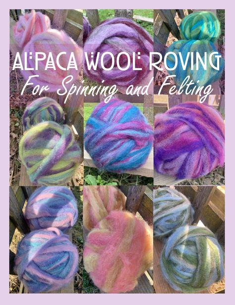 Felting Spinning Sunrise Alpaca Wool Roving