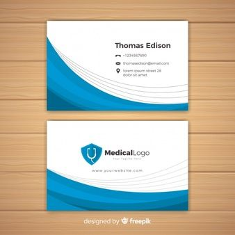 Download Modern Business Card Concept For Hospital Or Doctor For Free In 2020 Medical Business Card Modern Business Cards Medical Business Card Design