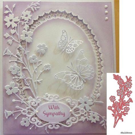 New Design Craft Metal Cutting Die Cut Dies Berries Flower Branch Decoration Scr