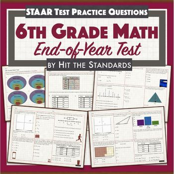 6th Grade Math End Of Course Exam Review Answers