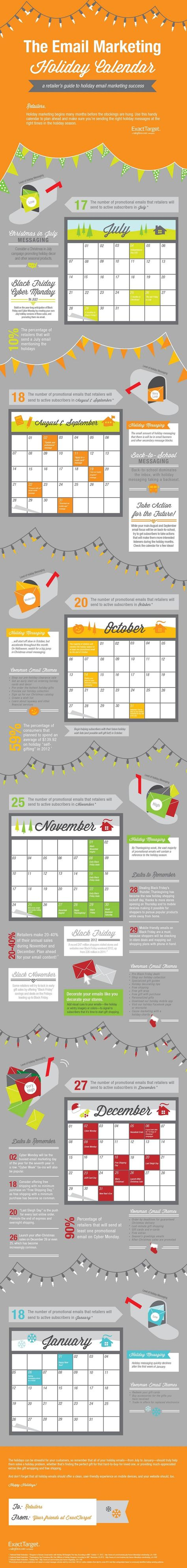 The Email Marketing Holiday Calendar [Infographic]