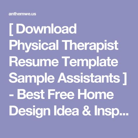 federal physical therapist resume sample the clinic best - physical therapy resumes
