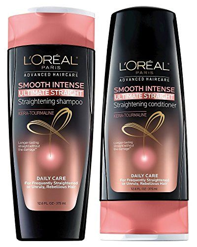 Loreal Paris Smooth Intense Ultimate Straight Bundle Straightening Shampoo Conditioner 126 Ounceeach Click On Th Straightening Shampoo Loreal Paris Loreal