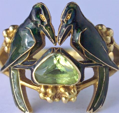 #RENE LALIQUE 1860-1945 'The Betrothal -To Have & To Hold'Art Nouveau Ring