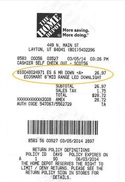 I Bought My Products At Home Depot And Provided A Receipt Credit Card App Receipt Template Free Receipt Template