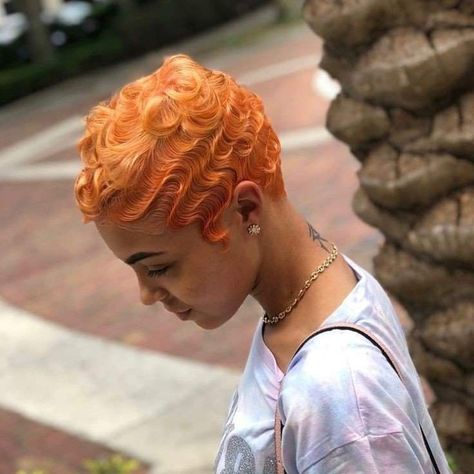 50 Short Haircut & Hairstyles for Black Women featuring finger waves, fades, tapered haircuts and more. Baddie Hairstyles, Black Women Hairstyles, Hairstyles Haircuts, Vintage Hairstyles, Wave Hairstyles, Braided Hairstyles, Wedding Hairstyles, Finger Waves Short Hair, Finger Waves Natural Hair