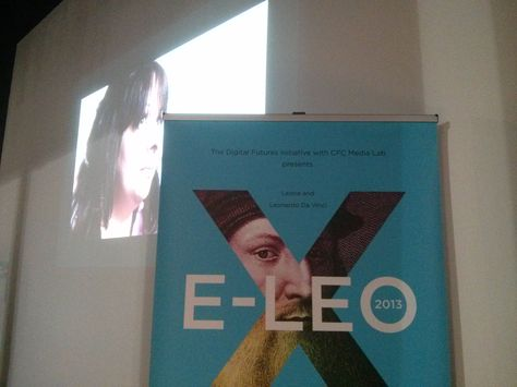 Project e-LEO at OCAD University #projecteleo @projecteleo with Linda Theron in the movie (she directed)  MyStudioAssistant live tweeted the event! @MY STUDIO ASSISTANT We loved it!