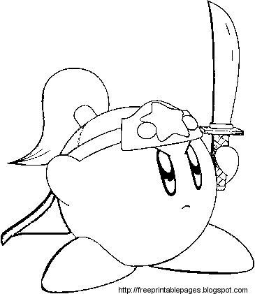 Ninja Kirby Coloring Pages Coloring Pages Free Coloring Pages Kirby