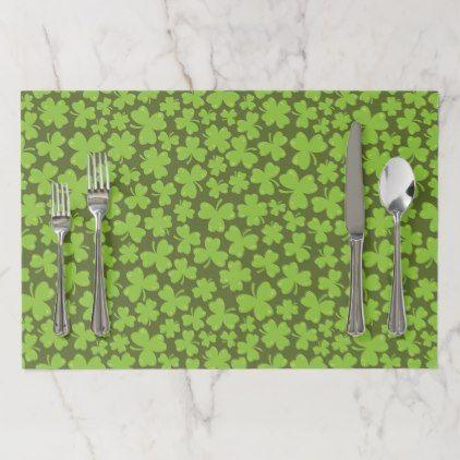 Clover Leaf Illustration Paper Placemat St Patricks Day Gifts Saint Patrick S Day Saint Patrick Ireland Irish Hol Leaf Illustration Diy Placemats Clover Leaf