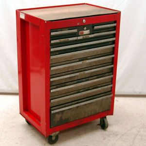 Craftsman 12 Drawer Red Roll Away Tool Chest Tool Box Tool Chest Shop Storage Craftsman