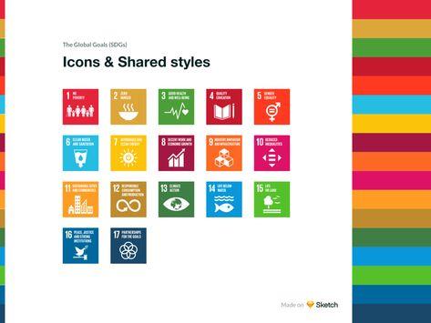 Global Goals Icons Sketch Freebie