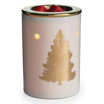 Candle Warmers Etc Golden Fir Illumination Fragrance Porcelain Wax Warmer Candle Warmer Tart Burner Wax Warmers