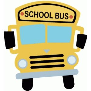 Sketched Flower Square School Bus Clipart School Bus School