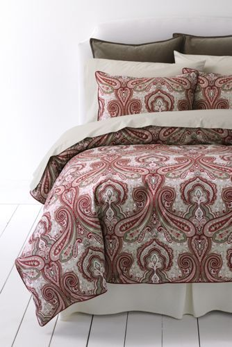 Percale Paisley Duvet Cover And Sham From Lands End Paisley
