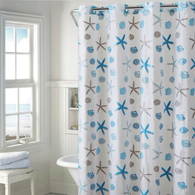 Hookless Peva Seashell Hookless Shower Curtain With Images