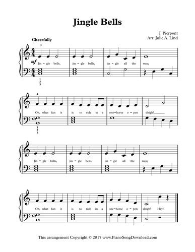 Jingle Bells Level 2 Piano Arrangement Of This Favorite Christmas