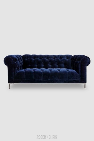 Blue Velvet Sofa Can Be Customized To Suit Your Unique Needs And