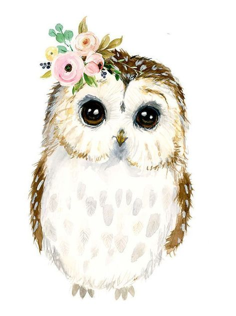 Watercolor baby owl Owlet painting Woodland Nursery Animal - #animal #baby #Nursery #owl #Owlet #Painting #poster #Watercolor #woodland .  |  Love #watercolor? Also check out these watercolor #infographic^s