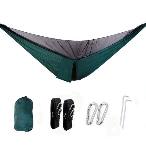 C&ing HammockHigh Strength Mosquito Net Hanging BedMultipurpose Travel Tent Set with 2 Buckles 2 Hanging Straps 2 Nails and 1 Nail Rope for Backpacking ...  sc 1 st  Pinterest & Camping HammockHigh Strength Mosquito Net Hanging BedMultipurpose ...