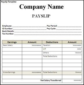 Get Employee Pay Slip Template Format Payroll Template Office