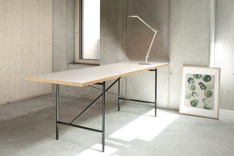 Egon Eiermann Tisch mit Linoleum Tischplatte Faust Tische