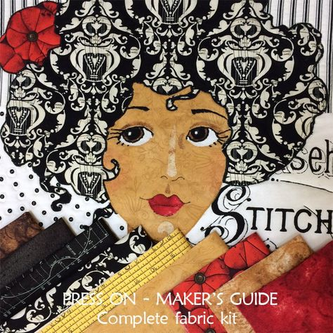 Just listed, three of our She Who Sews girls as fabric kits on Great Joy Studio at Etsy! The kits include fabrics as shown on the Joy Studio Maker's Guide covers. Offered two ways, complete a…